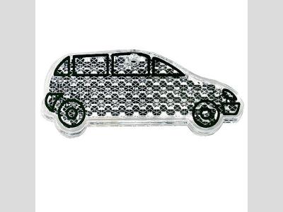 Fényvisszaverő figura , autó, fehér