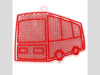Fényvisszaverő figura , busz, piros