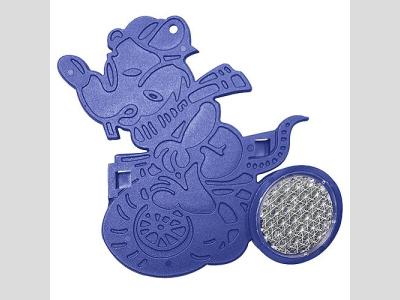 Motoregér figurás küllőprizma, kék