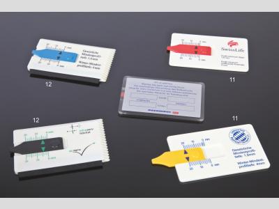 Check Up kártya forma mélységmérő