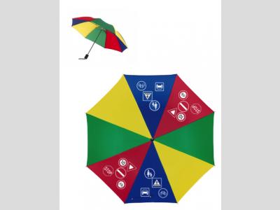 KRESZ táblás esernyő