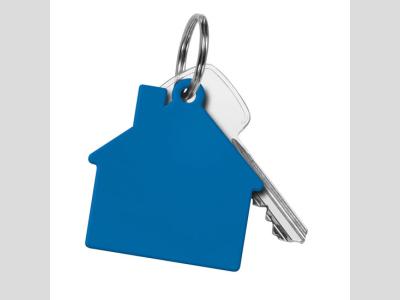Műanyag ház form akulcstartó, kék