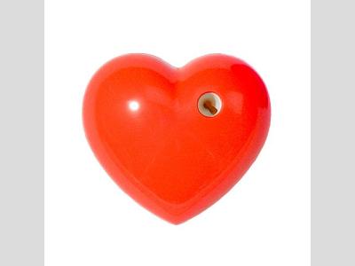 Szív faragó, piros