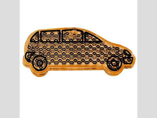 Fényvisszaverő figura , autó, narancs
