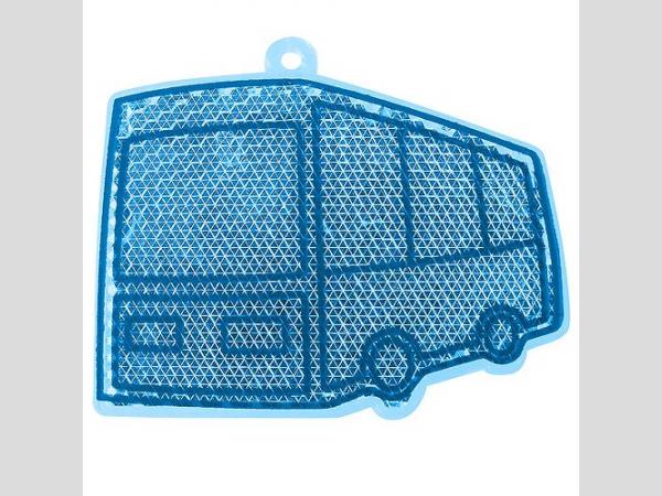 Fényvisszaverő figura , busz, kék