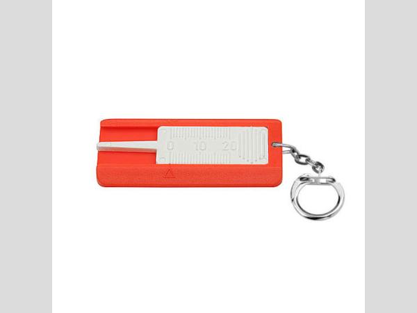 Gumuprofilmérő kulcstartóval, narancs