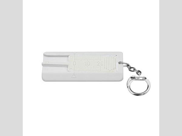 Gumuprofilmérő kulcstartóval, fehér