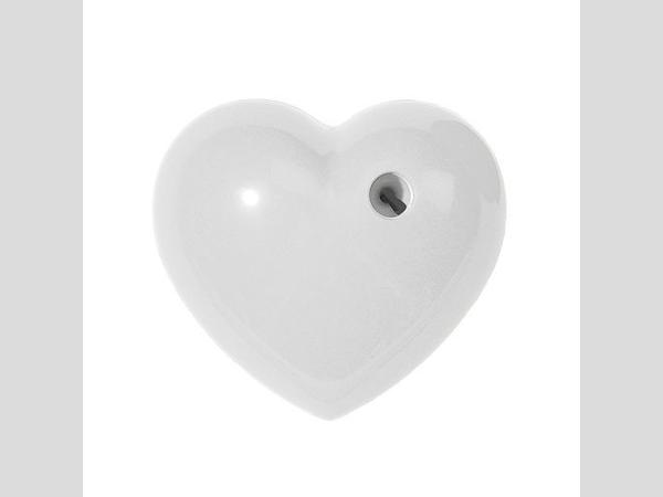 Szív faragó fehér